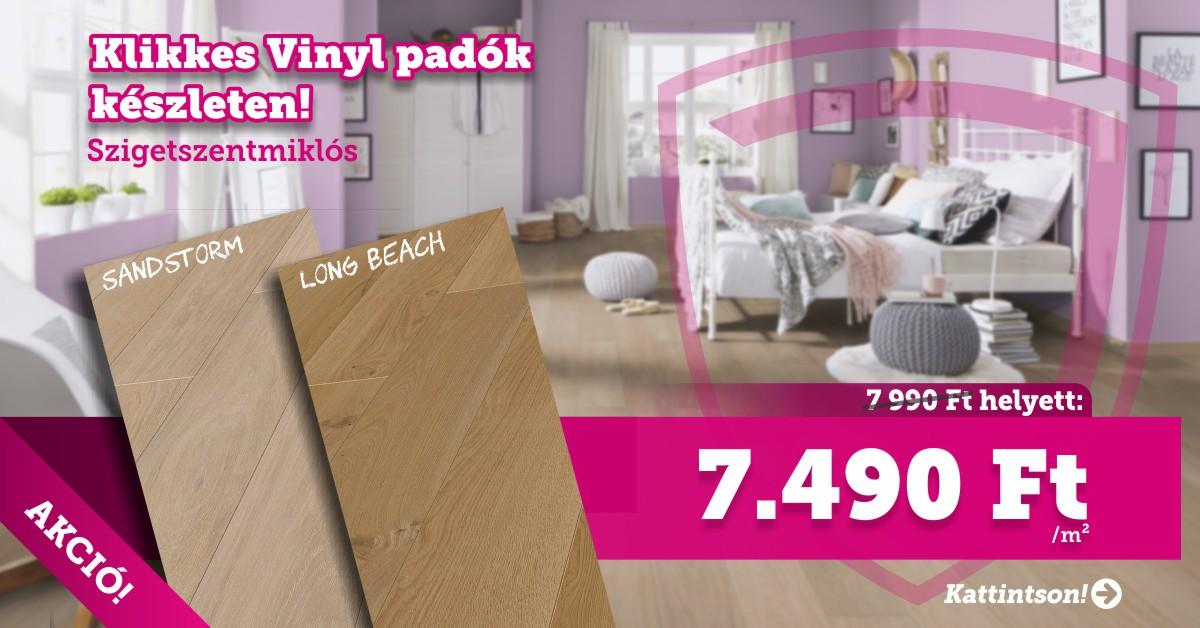 Szigetszentmiklós – Klikkes vinyl padlók készletről!